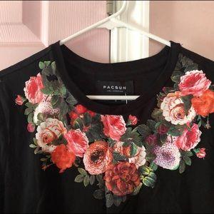 PacSun Shirts - Pacsun Floral Black Shirt